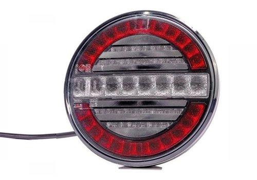 Fristom LED mist- en achteruitrijlicht (rond) 12-24v 100cm. kabel