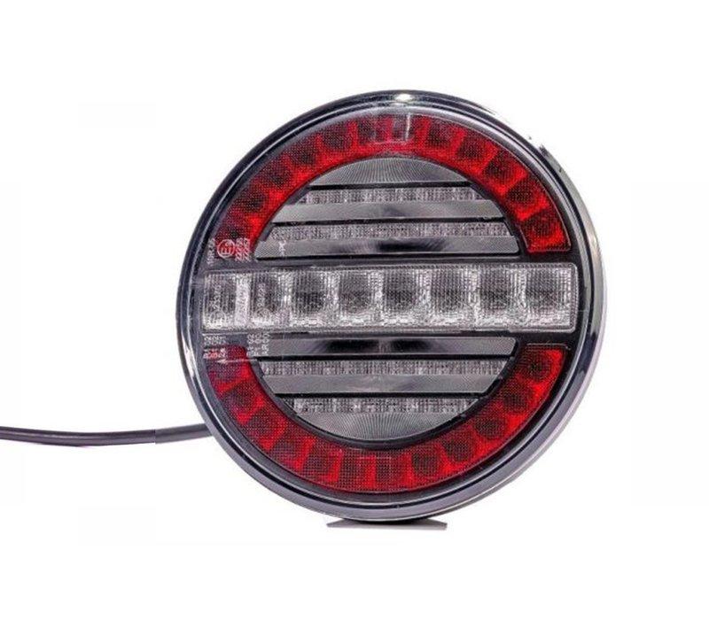 LED mist- en achteruitrijlicht (rond) 12-24v 100cm. kabel