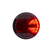LED achterlicht met dynamisch knipperlicht (rond) 12-24v 150cm. kabel
