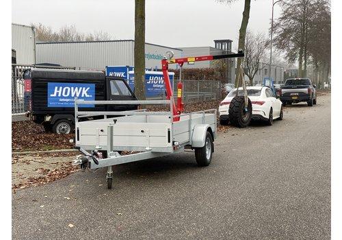 Anssems aanhangwagens Anssems BSX1500 bakwagen 301x150cm met laadkraan