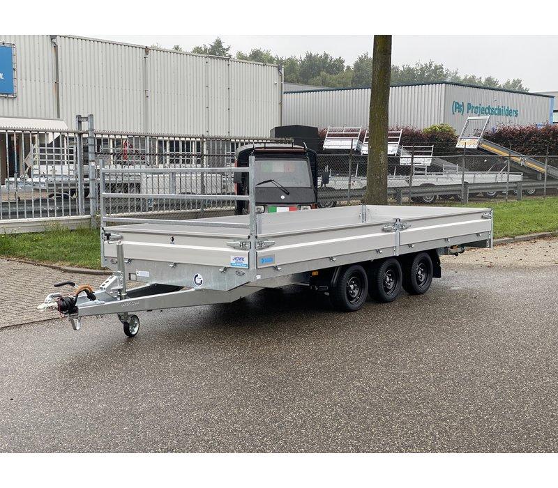 Nieuwe Hapert Plateauwagen 505x200cm ( 3500kg ) met paraboolvering