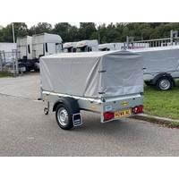 Humbaur bakwagen met huif 205x110x100cm ( 750kg ) Kantelbaar