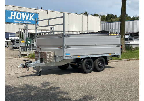 Hapert Aanhangwagens Hapert Azure plateauwagen 335x180x80cm 3500kg + Paraboolvering