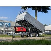 Hapert 3-zijdige kieper 335x180x80cm 3000kg