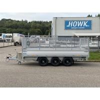 Hapert Cobalt HM-3 Ferro 405x200cm 3500kg Tridem met loofrekken