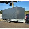 Hulco Aanhangwagens Demo Hulco plateauwagen met huif 502x203x210cm 3000kg