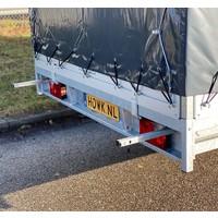 Demo Hulco plateauwagen met huif 502x203x210cm 3000kg