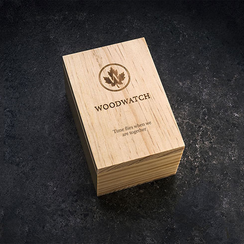wooden watch pine wood box with custom personalised engraving