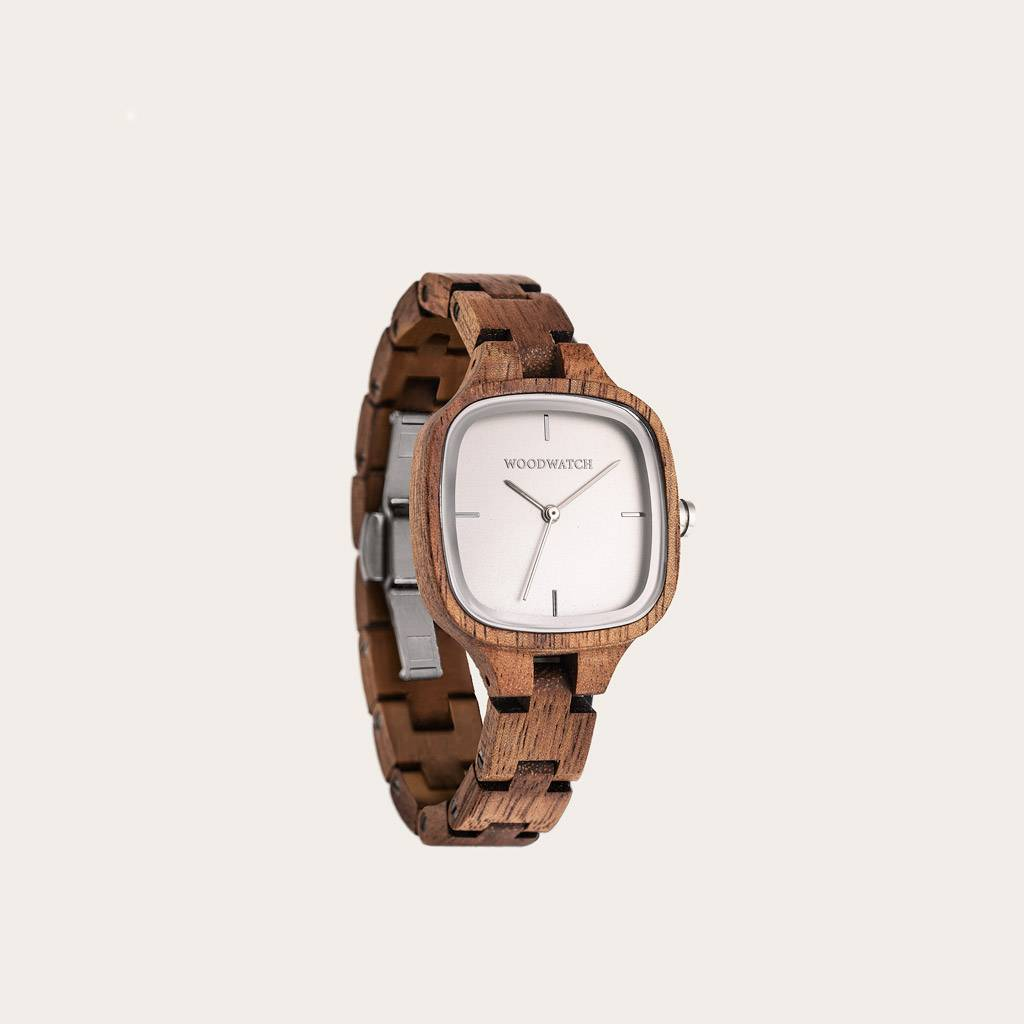 woodwatch femme montre en bois city collection 30 mm diamètre modern gallery bois d'acacia