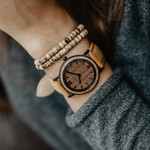 MINIMAL - 34 MM Brown Walnut Amber Petite