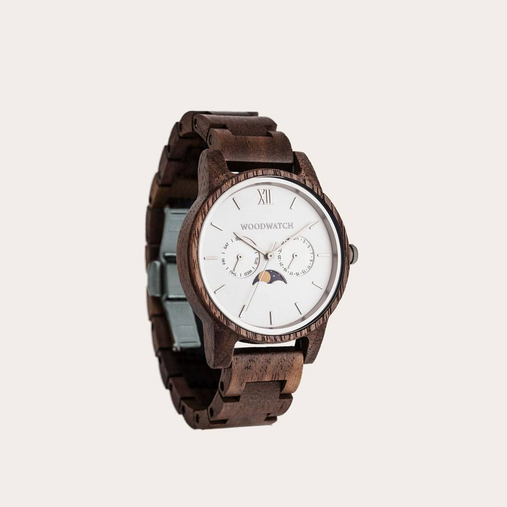 woodwatch men wooden watch classic collection 40 mm diameter ghost walnut wood
