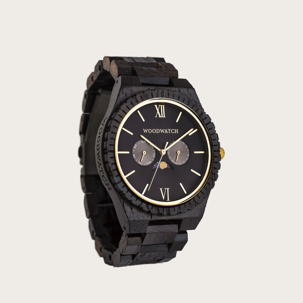woodwatch men wooden watch grand collection 47 mm diameter nightowl wenge