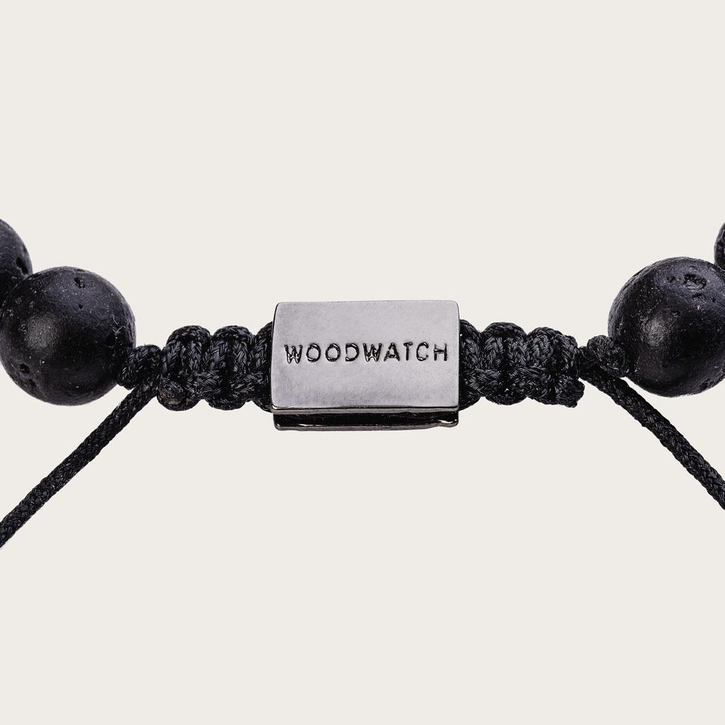 woodwatch mann frau hölzern armband  8 mm durchmesser Rosewood Volcanic
