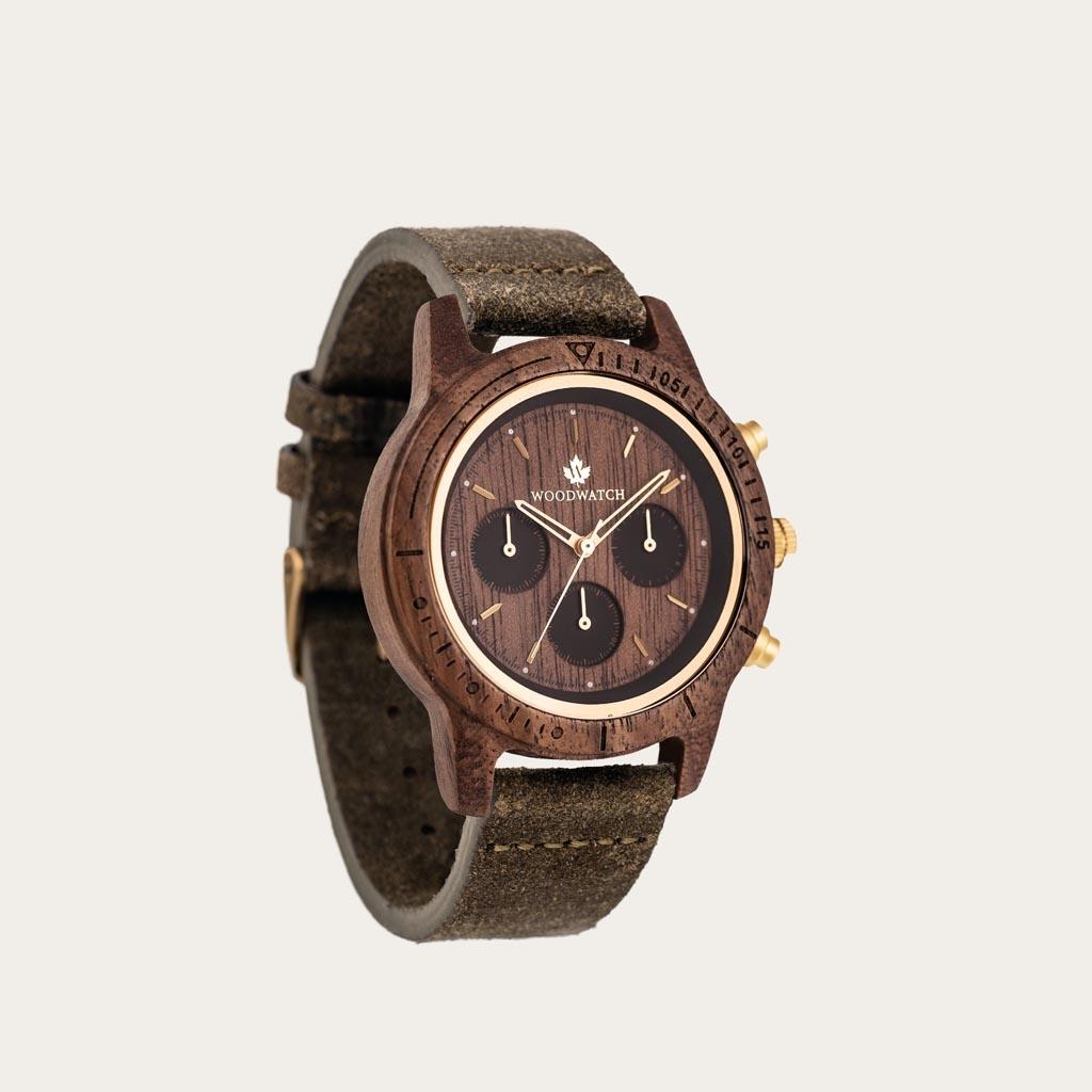 WoodWatch Orologi in Legno | Walnut Gold Khaki