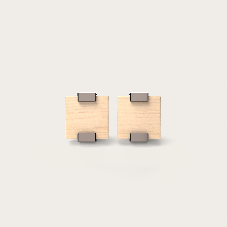 Rectangular Maple & Bronze