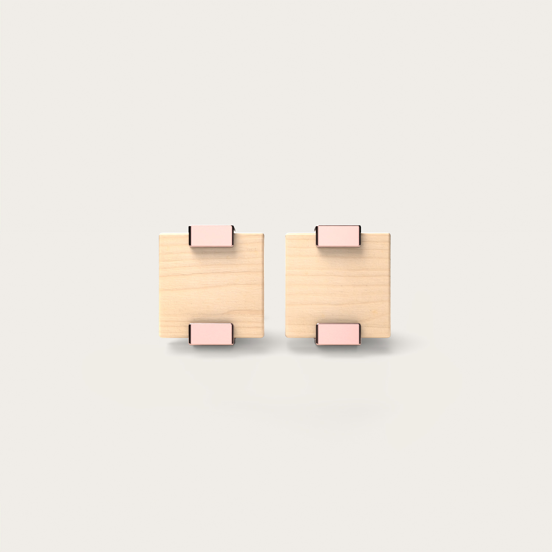 Rectangular Maple & Rosegold