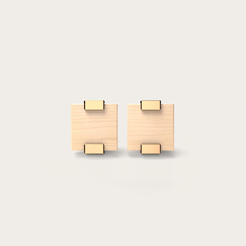 Rectangular Maple & Gold