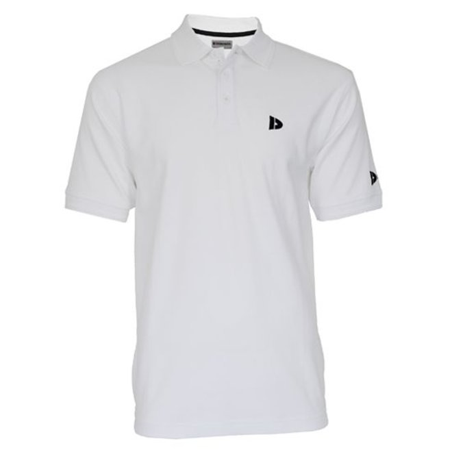 Donnay Heren - Polo pique shirt Noah - Wit