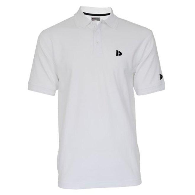 Donnay Heren - Polo pique shirt Noah - Wit