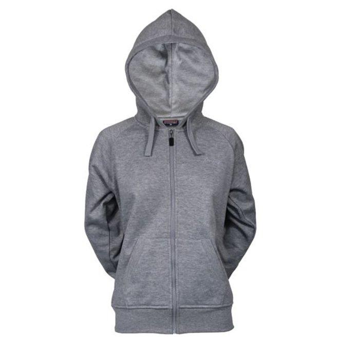 Donnay Dames - Vest met capuchon - Midden grijs gemêleerd
