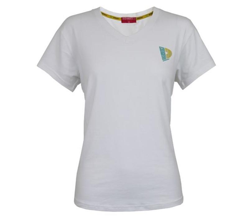 Donnay V-neck t-shirt – Dames – Wit