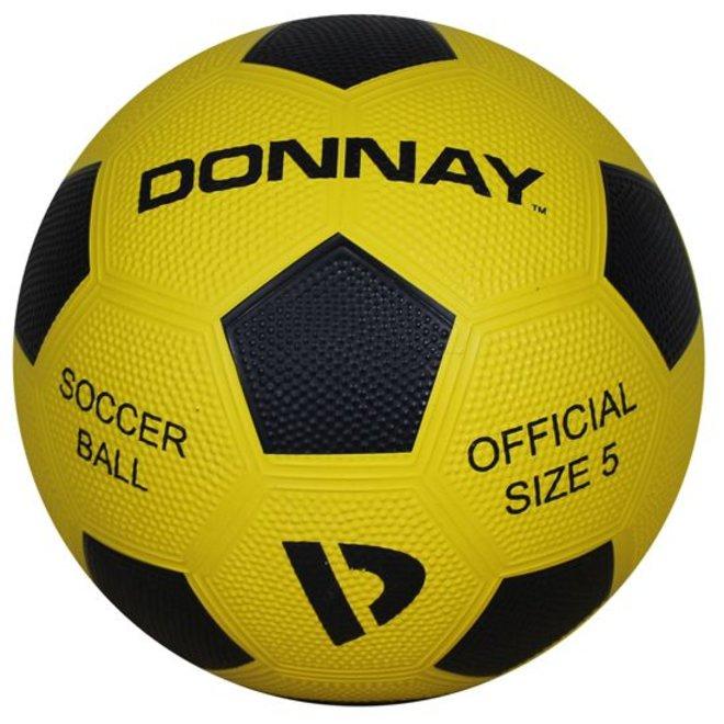 Donnay Straat voetbal No.5 - Geel/zwart