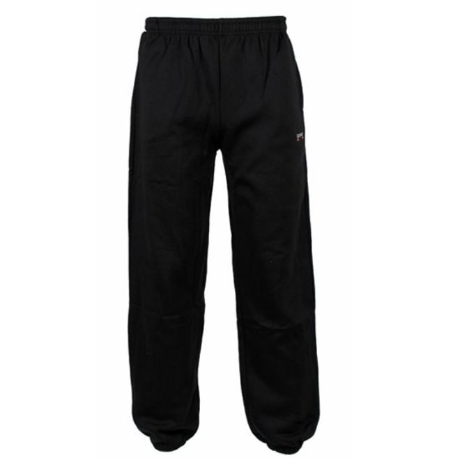 Donnay Heren - Joggingbroek dunne stof met boord - Zwart