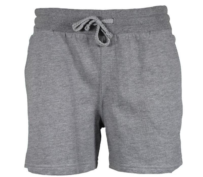 Donnay Kort joggingshort - Dames - Midden grijs gemêleerd