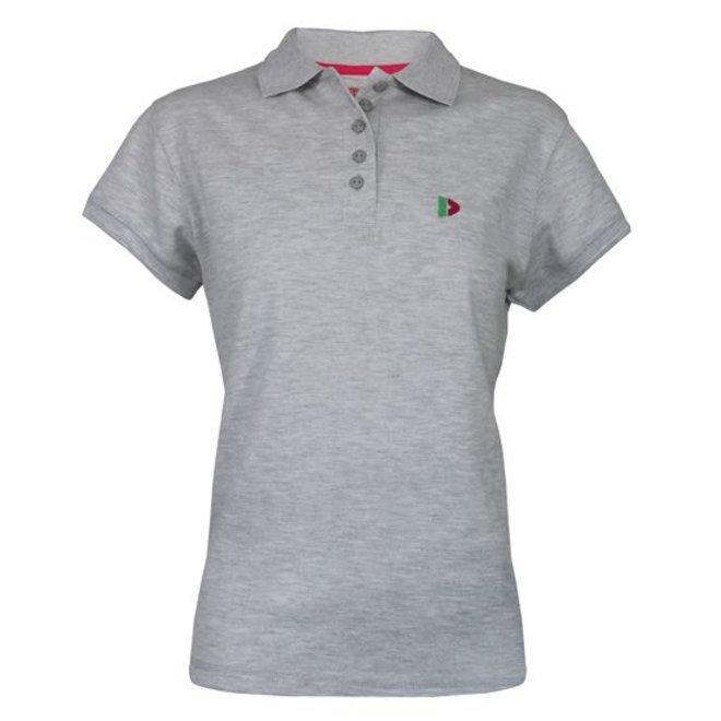 Donnay Dames - Polo Shirt - Lichtgrijs gemêleerd