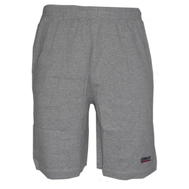 Donnay Heren - Korte joggingbroek - Midden grijs gemêleerd