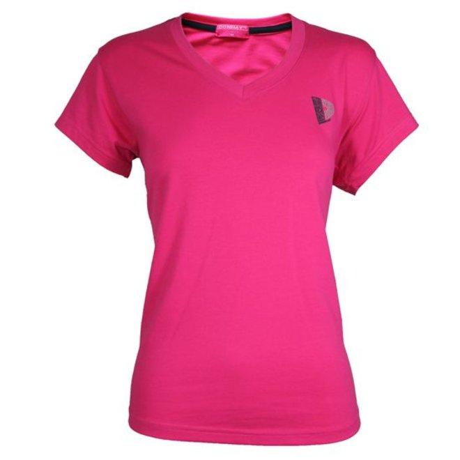 Donnay Dames - T-shirt V-neck - Donker roze