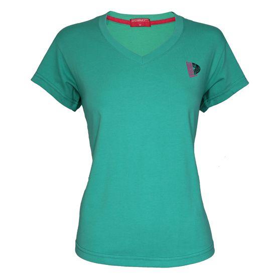 Donnay Donnay Dames - T-shirt V-neck - Zeegroen
