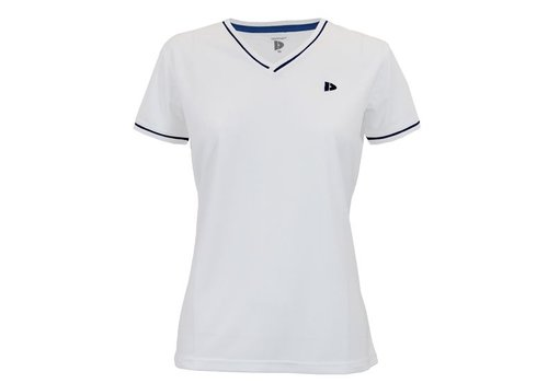 Donnay Donnay V- Neck sportshirt (cool dry) - Dames - Wit/Korenblauw