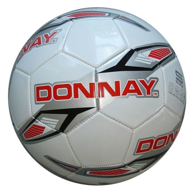 Donnay Veld voetbal No.5 - Wit/rood