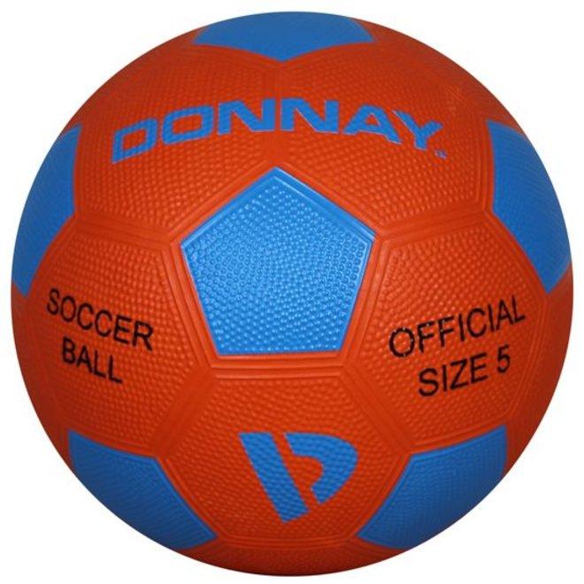 Donnay Straat voetbal No.5 - Oranje/blauw