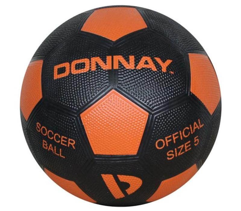 Donnay Straat voetbal No.5 - Zwart/oranje