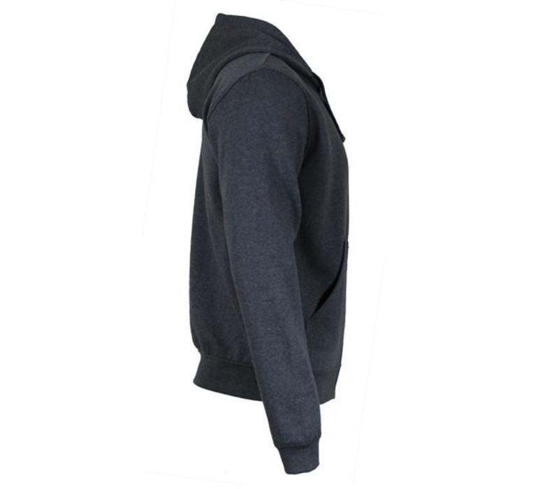 Donnay vest met capuchon - Donker grijs gemêleerd