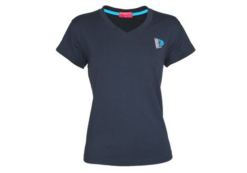Donnay V-Neck T-Shirt Lds - Navy