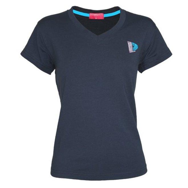 Donnay Dames - V-Neck T-Shirt - Navy