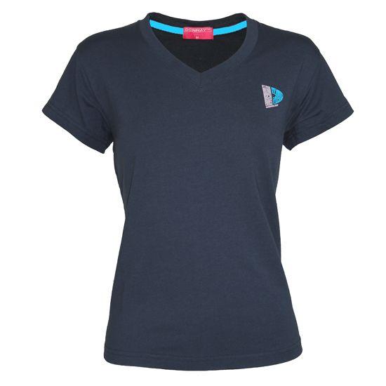 Donnay Donnay Dames - V-Neck T-Shirt - Navy