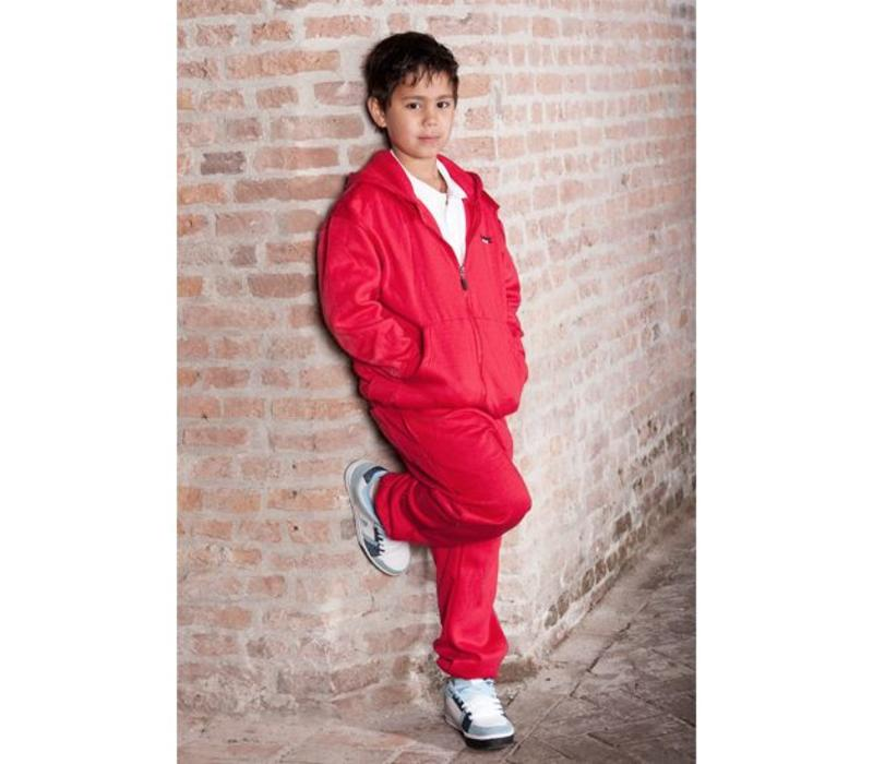 Donnay Joggingbroek met boord - Junior - Hard rood