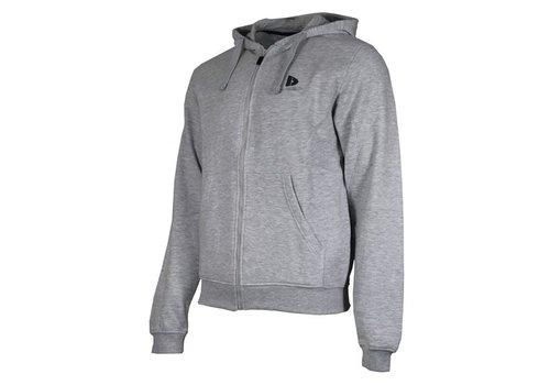 Donnay Sweater met hele rits en capuchon - Licht grijs gemêleerd  - NIEUW