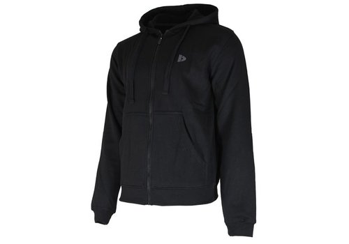 Donnay Sweater met hele rits en capuchon - Zwart- NIEUW