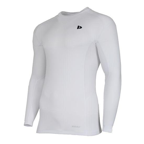 Donnay Donnay Heren - Compressie shirt lange mouw - Wit