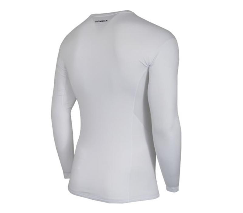 Donnay compressie shirt lange mouw - Wit