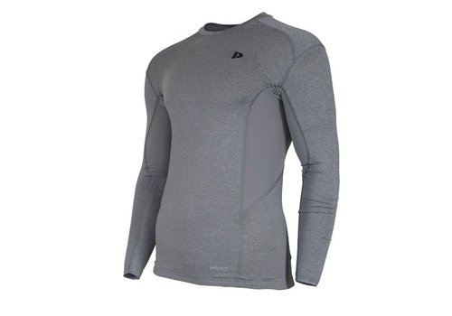 Donnay Donnay compressie shirt lange mouw - Grijs gemêleerd