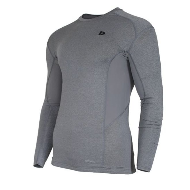 Donnay Heren - Compressie shirt lange mouw - Grijs gemêleerd