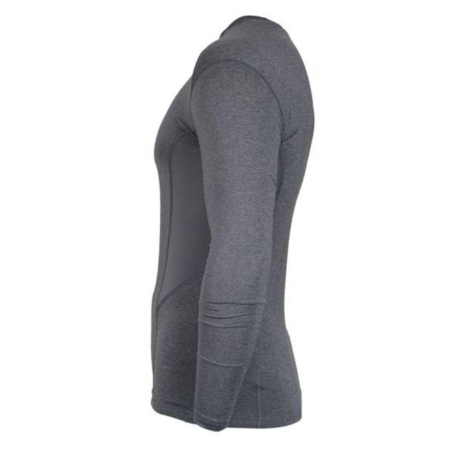 Donnay Heren - Ondershirt lange mouw - Grijs gemêleerd