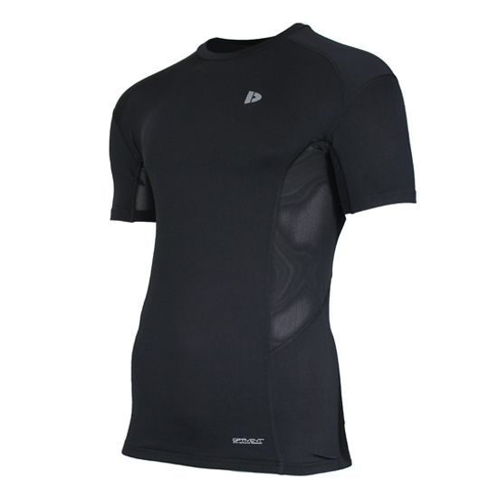 Donnay Donnay Heren - Compressie shirt korte mouw - Zwart