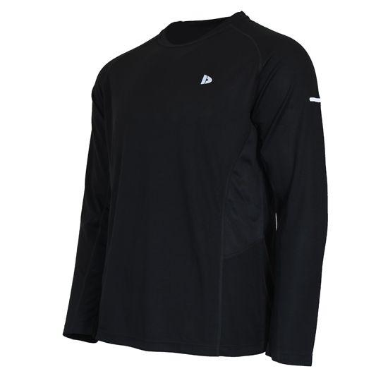 Donnay Donnay Heren - Multi Sport T-shirt lange mouw - Zwart